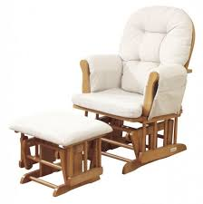 furniture gliding nursing chair with footstool rocking chair for