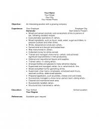 Resume Examples Food Service by The Awesome Bartender Resume Cover Letter Resume Format Web