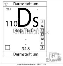 Basic Periodic Table Periodic Table Element Darmstadtium Basic Properties Stock Vector