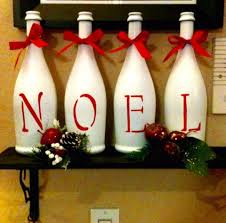 these painted wine bottles would look cool on the fireplace at