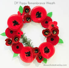 poppy remembrance wreath oh creative day