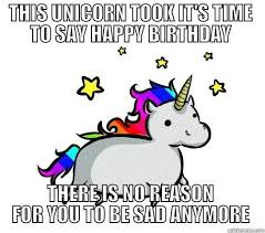 Unicorn Birthday Meme - unicorn birthday meme birthday best of the funny meme