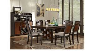 7 pc dining room set heights cherry 7 pc dining room rectangle transitional