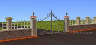 Kerala Home Gates Design Colour by New Boundary Wall Design In Kerala House 2017 Picture Albgood Com