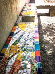 mosaic garden furniture uk vibrant color rainbow ceramic tile