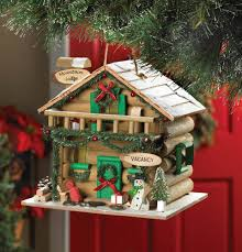 wholesale holiday mountain lodge birdhouse outdoor decor cheap