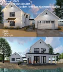 floor plans with detached garage house plan plan 62650dj modern farmhouse plan with 2 beds and