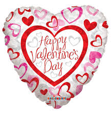 valentines day balloons wholesale 18 happy s day patterned hearts mylar foil balloon