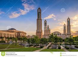 islamische architektur islamische architektur moschee bei sonnenuntergang stockbild