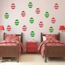 home living wall stickers iconwallstickers easter egg zig zag dots creative multipack wall stickers seasonal decals