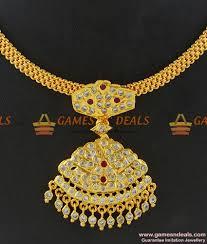 white stone gold necklace images 42 imitation necklace designs latest imitation ruby necklace jpg