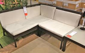 Ikea Outdoor L Shaped Corner Sofa With Skirted Slipcover Mixed Yellow Metal
