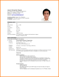 Simple Job Resumes by Sample Resume For Filipino Nurses Resume For Your Job Application