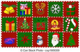 stock illustration of christmas symbols collage csp1909359