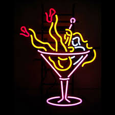 martini glass logo martini led neon sign buy led neon sign led neon logo led