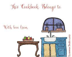 book plates dishes cookbook bookplates etsy