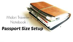 travelers notebook images How i setup my traveler 39 s notebook passport size seaweed kisses jpg