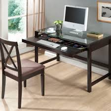 Small Work Desk Table Desk Tempered Glass Computer Desk Desk Table Black Small Home