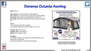 Awning Sizes Dorema Octavia Seasonal Caravan Awning Youtube