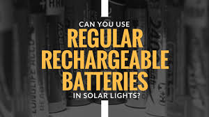 can you use regular batteries in solar lights can you use regular rechargeable batteries in solar lights