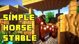 minecraft simple horse stable tutorial xbox pe pc ps3 ps4 youtube