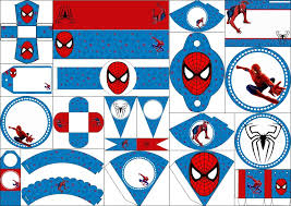 spiderman blue background free printable kit fiesta