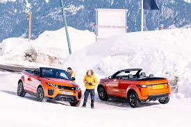 land rover snow test drive the 2017 range rover evoque convertible cool hunting