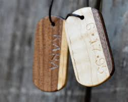 customized dog tag necklaces wooden tags etsy