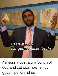 Make It Rain Meme - cash money m gonna make it rain i m gonna post a tiny bunch of dog
