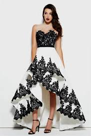 black and white dresses black and white high low prom dress naf dresses