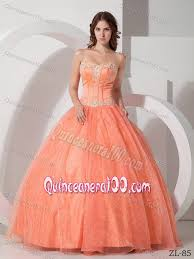 orange quinceanera dresses beautiful appliqued with beaded quinceanera dress in light orange