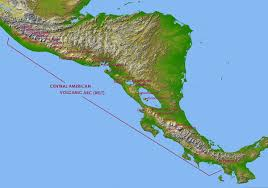 Central America And Caribbean Map by Central America Volcanic Arc Wikipedia