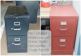 Chalk Paint On Metal Filing Cabinet File Cabinet Makeover With Sloan Decorative Chalk Paint