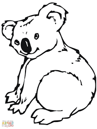 realistic koala coloring pages contegri com
