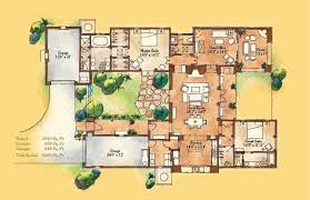 Adobe Style Home With Courtyard Santa Fe Style Meets Traditional Adobe House Plans Designs