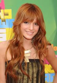 framed face hairstyles with bangs bella thorne cute long curly hairstyle with face framing bangs for