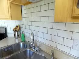 how to paint kitchen tile backsplash painted subway tile backsplash remodelaholic