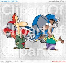 wrecked car clipart royalty free rf clip art illustration of two men roadside after