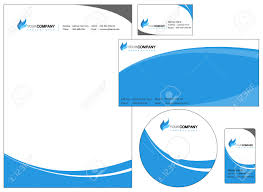 Letterhead And Business Cards by Set Of Corporate Identity Items Easy To Customize Letterhead