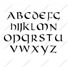 lettering design from a to z celtic international uppercase amp