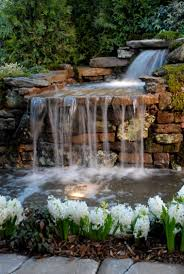 lawn u0026 garden relaxing backyard waterfalls ideas with neutral