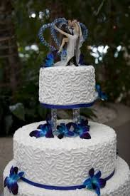 Cake Decorating Singapore Royal Blue Wedding Cake Decorated With White Chocolate Butter