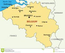 belgium in the map belgium map stock vector image of destination outline 23061335