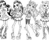 coloring pages monster high coloring pages images and pictures