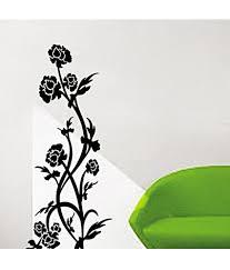 sticker flower design sticker creations pindia black flower design wall sticker pindia black flower