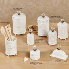 Ceramic Canisters For Kitchen by Circa White Ceramic Kitchen Canister Set