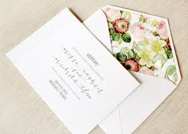 wedding invitations floral megan nick s calligraphy and floral wedding announcements