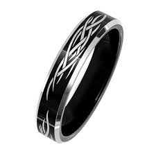 wedding ring direct black tungsten ring for women wedding band with laser tribal