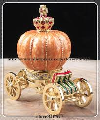 pumpkin carriage new carriage jewelry trinket box figurine cinderella pumpkin