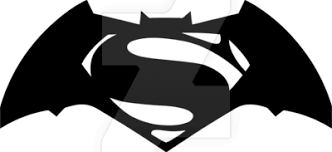 batman vs superman logo drawing clipartsgram com